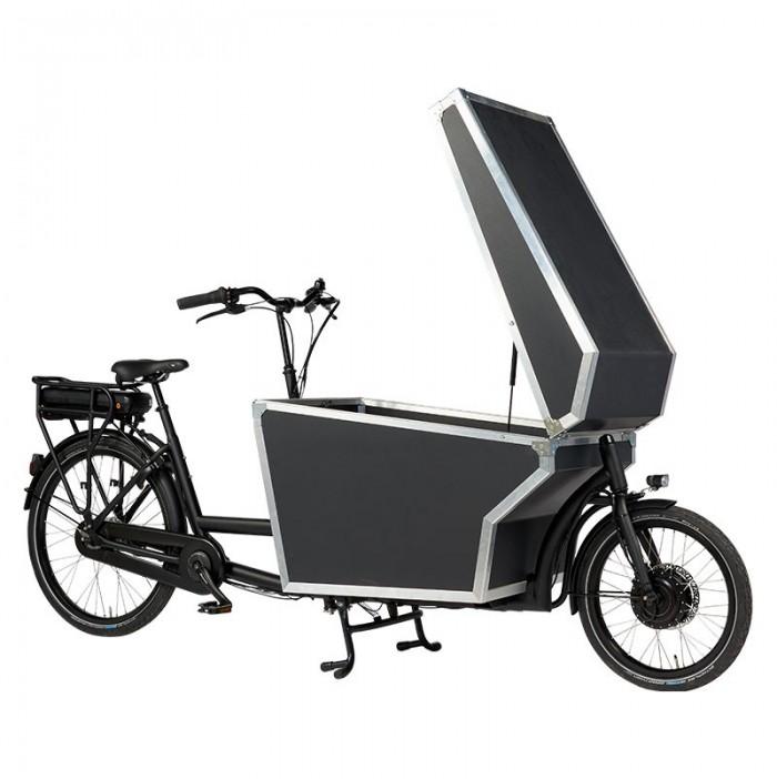 Dolly Bike Cargo Elektro Schwarz Box auf